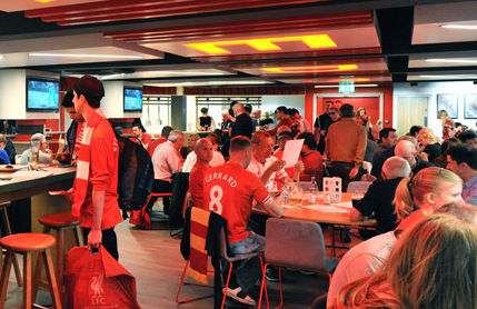 Main Stand seats + Anfield Code Lounge hospitality