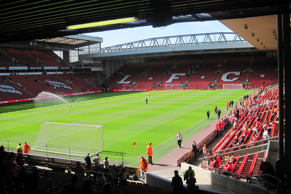Anfield Road Stand seats + The Sandon hospitality